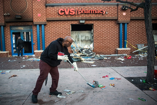 National Guard Activated To Calm Tensions In Baltimore In Wake Of Riots After Death Of Freddie Gary