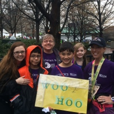 My cheering squad stood in the rain to see me at the finish line! Aren't they amazing?