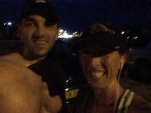 Sunday long run, finishing my last 4 mi with my husband