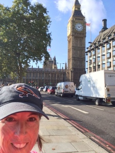 Running by Big Ben and the Houses of Parliament last October.