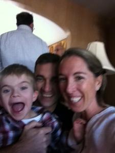 Mile 18: Aaren, our sweet, amazing nephew, and his new runner Mackenzie!