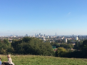 The City of London from atop Parliament Hill in Hampstead Heath