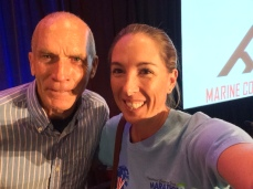 Selfie with Bart Yasso, Marine Corps Marathon, October 2015