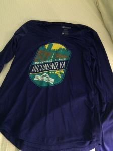 Race participant shirt