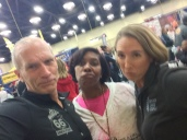 Bart Yasso being sassy at the Tulsa Route 66 Marathon expo, November 2015