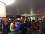 Hotel lobby before the race start. I wasn't the only one delaying my move outside that morning.