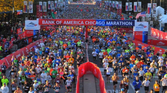 Chicago marathon start
