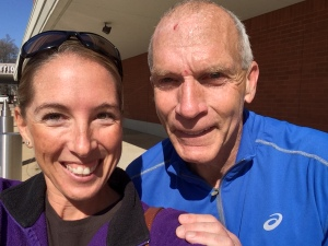 Selfie with Bart Yasso after the Little Rock 5K.