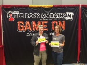 Ready with our marathon bibs!