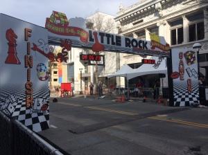 Little Rock Marathon finish line