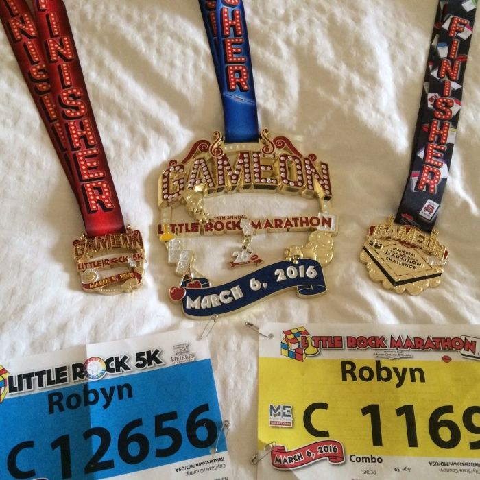 Medal from the weekend: 5K, Marathon, Challenge