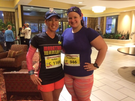 Ashley & Robyn ready for the marathon!