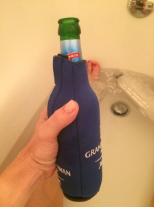 My post run beer (in the ice bath of course) helped distract from the intense chafing I suffered. Thank goodness for Caybrew!