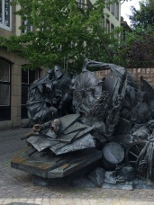 Sculpture that depicts the city's history