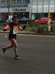 Feeling strong around mile 20
