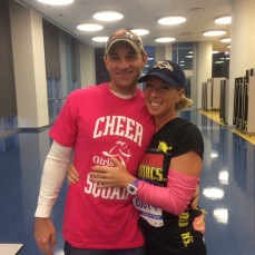 My wonderful husband who supports me. (Chicago Marathon 2016)