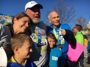 My friend Keith and his proud family pose with Bart Yasso for a post race picture.