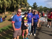 Spending time with the great volunteers at the water stop (loop 2) who were supporting 22 Too Many.