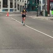 Heading to the finish line. (Photo courtesy of Cheryl)