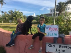 My personal cheerleaders at mile 25! (Photo courtesy of Amy)