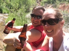 Post hike refreshments at Calf Creek