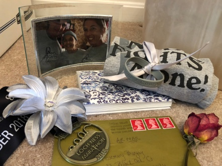My Loch Ness Marathon medal was buried with my mom's ashes